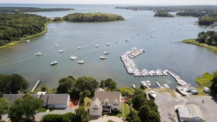 Mashpee Cape Cod vacation rental - Aerial of waterfront