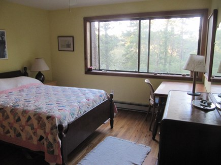 Wellfleet Cape Cod vacation rental - Ground floor bedroom with double bed, facing the marsh