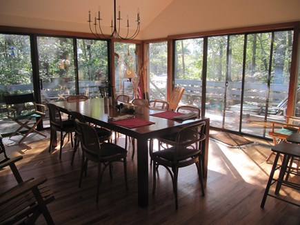 Wellfleet Cape Cod vacation rental - A large deck surrounds the spacious dining room.