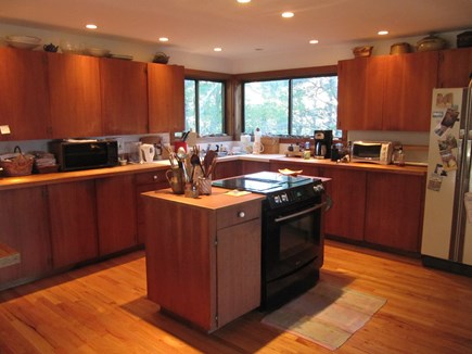 Wellfleet Cape Cod vacation rental - Open kitchen has an electric stove/oven and lots of counter space