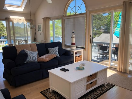 Mashpee, Popponesset Cape Cod vacation rental - Open and spacious upstairs living area with cathedral celing