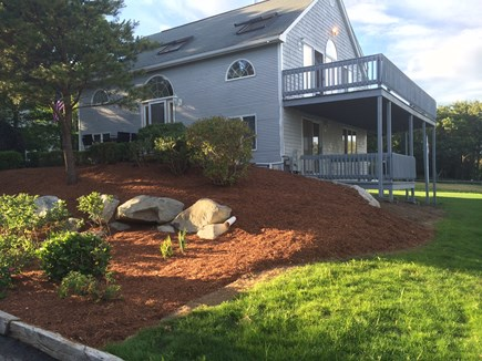 Mashpee, Popponesset Cape Cod vacation rental - First & second floor decks with Pond views