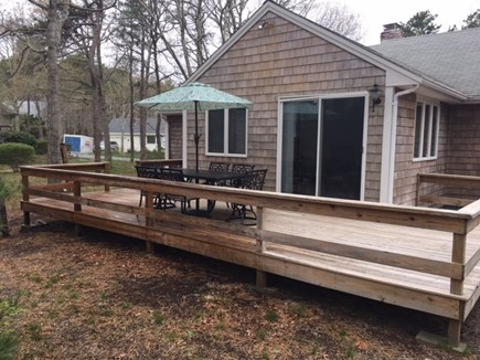 Dennis Cape Cod vacation rental - Deck off sunroom