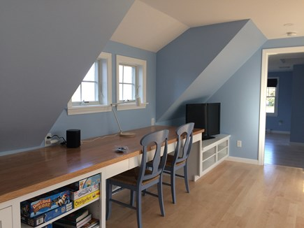 Pocasset Pocasset vacation rental - Office area upstairs, with a sitting area, TV and board games