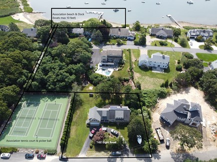 Pocasset Pocasset vacation rental - Tennis court next door. Association beach & dock approx 100ft.