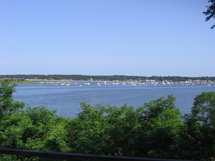 Wellfleet Cape Cod vacation rental - Gorgeous views from Mahogany deck overlooking Wellfleet Harbor.