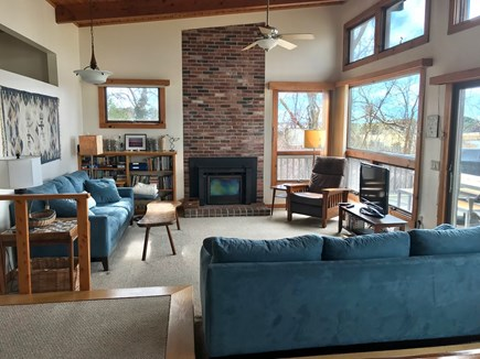 Wellfleet Cape Cod vacation rental - Living Room with unobstructed view of Wellfleet Harbor.