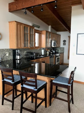 Wellfleet Cape Cod vacation rental - Chef's kitchen: Granite countertop, Dshwshr, Gas range and more.