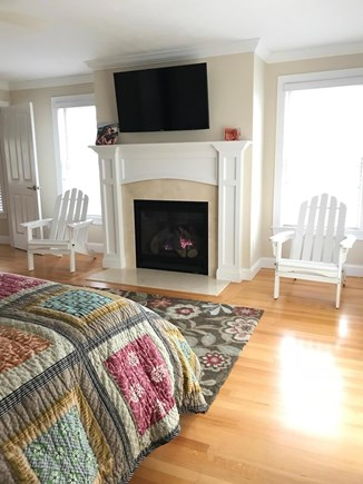 New Seabury, Mashpee New Seabury vacation rental - 2nd floor master bedroom with balcony and view of the ocean.