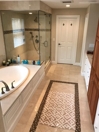 New Seabury, Mashpee New Seabury vacation rental - Master bathroom with jacuzzi tub and steam shower.
