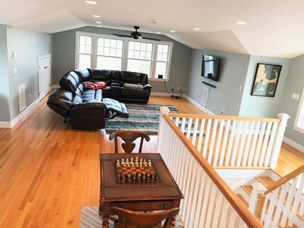 New Seabury, Mashpee New Seabury vacation rental - Third floor media and game room with half bath and 2 balconies.
