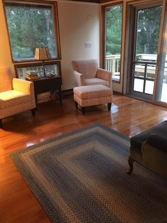 Eastham Cape Cod vacation rental - Living Room overlooking the deck