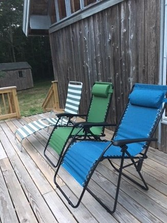 Eastham Cape Cod vacation rental - Deck relaxation