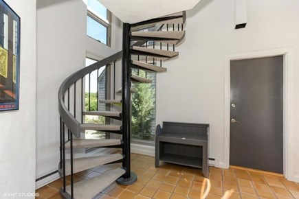 Truro Cape Cod vacation rental - Elegant staircase to entry level