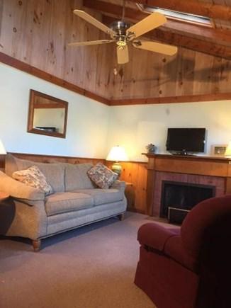 Dennisport Cape Cod vacation rental - Living room with skylights