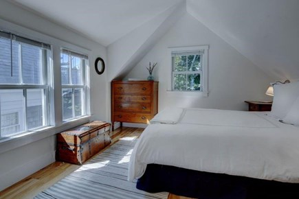 Provincetown Cape Cod vacation rental - This Is the Rear Bedroom with Queen it Looks Over the Garden