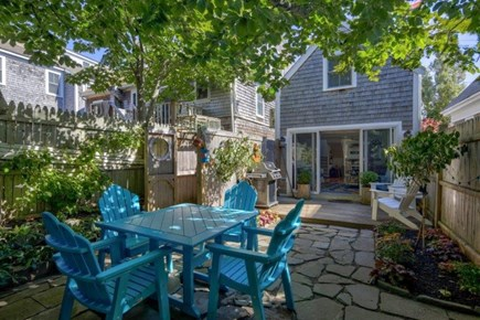 Provincetown Cape Cod vacation rental - The Private Back Garden with Outdoor Shower and Grill