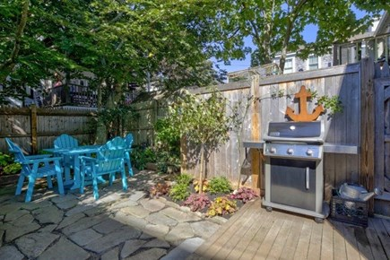 Provincetown Cape Cod vacation rental - The Private Back Garden with Enclosed Outdoor Shower