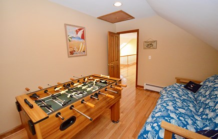 Orleans Cape Cod vacation rental - Game room with foosball and futon