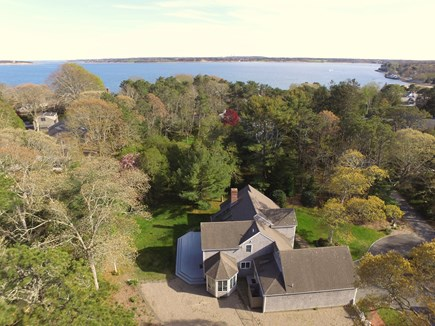 Orleans Cape Cod vacation rental - Aerial view of home - private location very close to Pleasant Bay