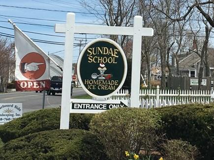 Dennisport Cape Cod vacation rental - A family favorite: Sundae School old fashion ice cream parlor
