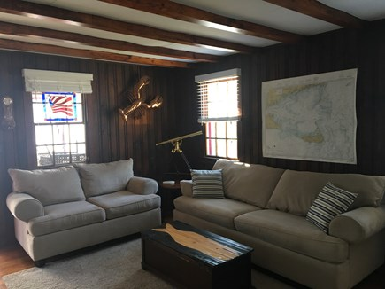 Dennisport Cape Cod vacation rental - Living room with flat screen TV and WIFI