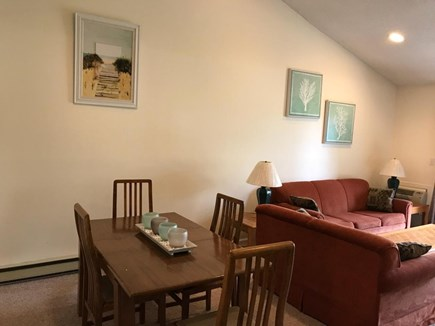 Brewster Cape Cod vacation rental - A comfortable dining area connects seamlessly to the living room