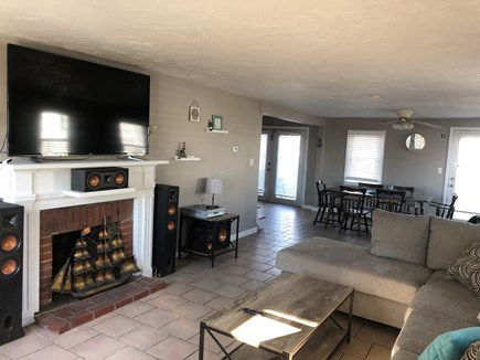 Wareham MA vacation rental - Open living room to kitchen