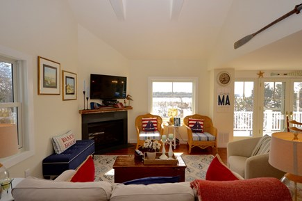 Orleans Cape Cod vacation rental - Another angle of the living area- water views