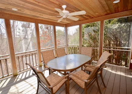 Wellfleet Cape Cod vacation rental - Screened porch on main level open on 3 sides, outdoor dining for