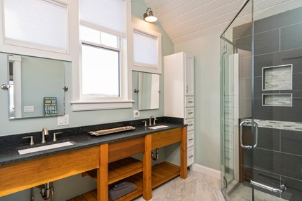 Eastham Cape Cod vacation rental - Second bath with custom shower and vanities