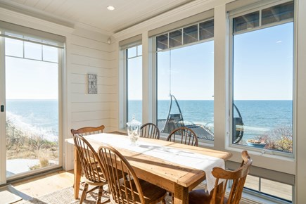 Eastham Cape Cod vacation rental - Dining area overlooking the water