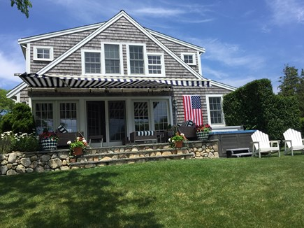 Chatham Cape Cod vacation rental - Back of the house, patio and hot tub