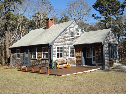Yarmouth Port Cape Cod vacation rental - Front of home and deck (in the off season)