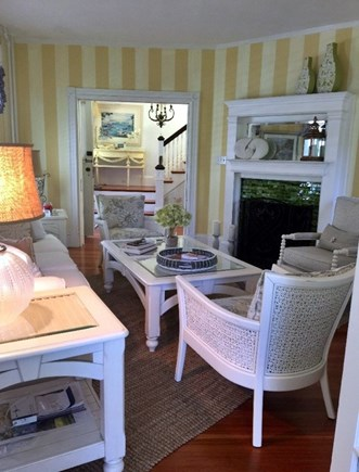Harwichport Cape Cod vacation rental - Bright living room with seating