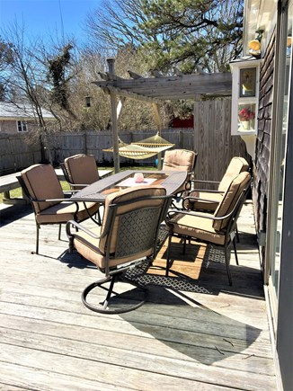 South Dennis Cape Cod vacation rental - Relaxing Deck with Gas Grill