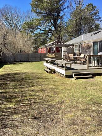 South Dennis Cape Cod vacation rental - Fenced Back yard