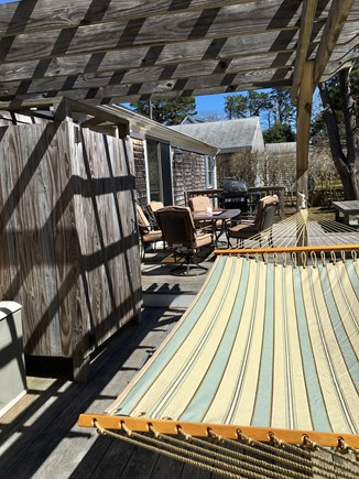 South Dennis Cape Cod vacation rental - Enclosed Shower and Hammock