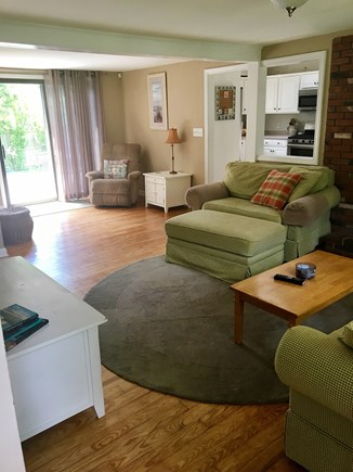 South Dennis Cape Cod vacation rental - Living room to Deck