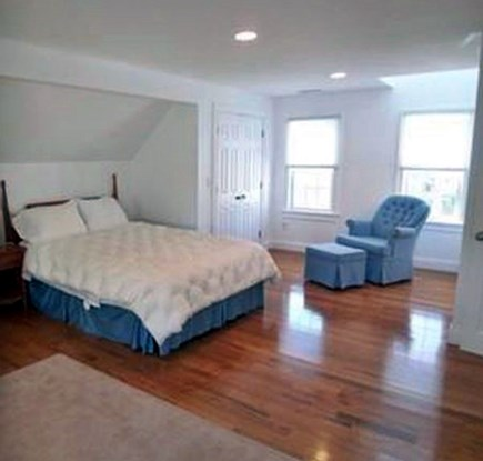 Harwich Port Cape Cod vacation rental - Master Bed: cathedral ceiling/full bath/south facing windows