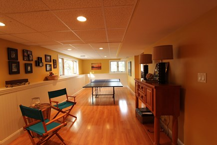 Mashpee Cape Cod vacation rental - Downstairs Family Room/Ping Pong Table