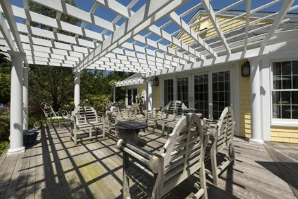 Orleans Cape Cod vacation rental - Pergola covered deck makes ideal outdoor living space
