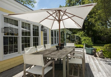 Orleans Cape Cod vacation rental - Enjoy dining al fresco, shaded by the handsome pergola.