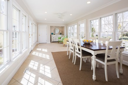 Orleans Cape Cod vacation rental - Sunroom dining area.