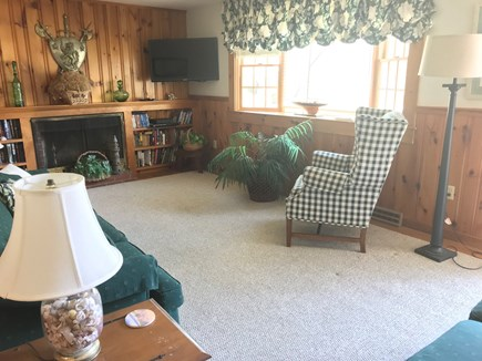 West Dennis Cape Cod vacation rental - Living room with flat screen TV/ DVD player/ cable