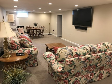 West Dennis Cape Cod vacation rental - Brand new basement w/ 65 inch TV/ home theater system