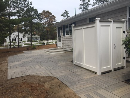 West Dennis Cape Cod vacation rental - Brand new patio and outdoor shower almost finished!