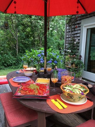 Orleans Cape Cod vacation rental - Outdoor deck and dining table make it summer heaven.
