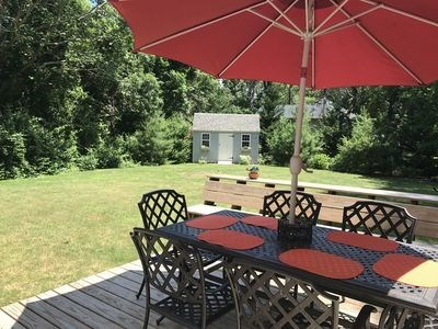 Orleans Cape Cod vacation rental - The backyard ready for family fun and games!
