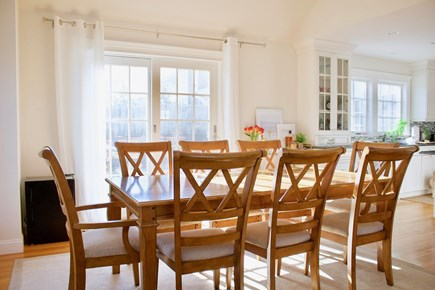 Popponesset, Mashpee Cape Cod vacation rental - Dining Room with door to back patio